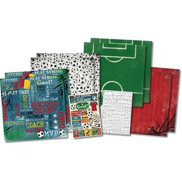 Karen Foster Soccer Champ Scrapbook Kit