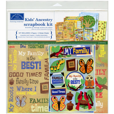 Karen Foster Kids' Ancestry Scrapbook Kit
