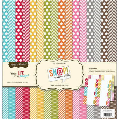 Simple Stories Sn@p! Color Vibe Collection Kit 12 X12