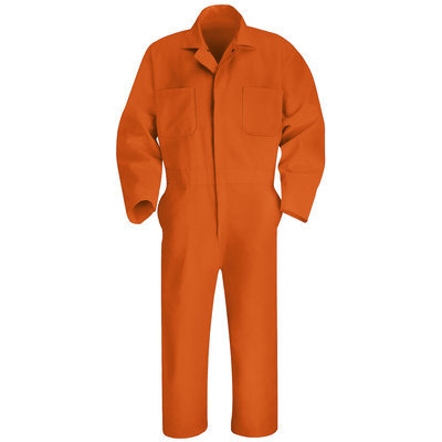 RED KAP CT10OR RG 40 Coverall, Chest 40In, Orange