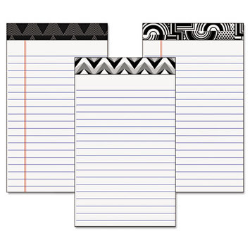 Cardinal Brands 30491 Fashion Legal Pads With Assorted Headtapes 5 X 8 50 Sheets/pad 6 Pads/pack