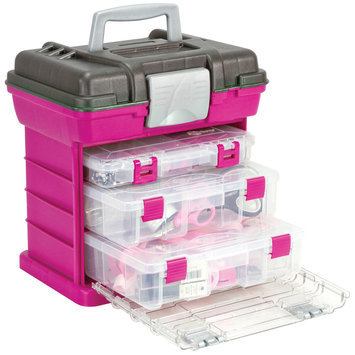 Creative Co Creative Options Grab'n Go 3-By Rack System - Magenta/Sparkle Gray
