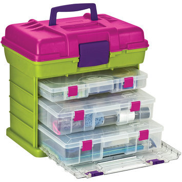 Creative Co Creative Options Grab 'n Go 3-By Rack System - Green/Magenta