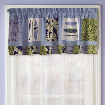 PEM America Catch A Wave Window Valance in Blue and Green