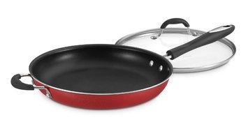 Cuisinart Advantage Non-Stick Aluminum 12-Inch Saut? Pan w/Cover Red