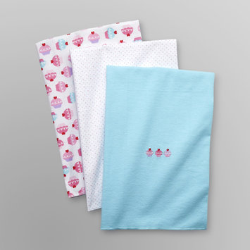 Baby Starters Infant Girl's 3 Pk Receiving Blankets - Cupcake Pink