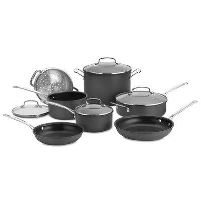 Cuisinart Chef's Classic Nonstick Hard-Anodized 11-pc. Cookware Set