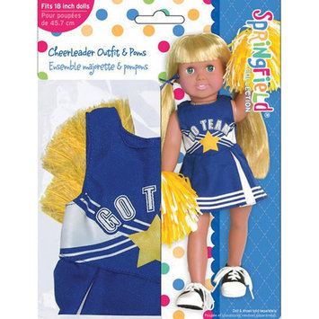 Fibre Craft 412829 Springfield Collection Cheerleader OutfitBlue amp; White with Yellow Pom Poms
