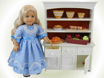 The Queen's Treasures Farmhouse Collection Step Back Cupboard, Fits 18 American Girl Doll Furniture