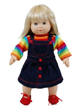 The Queen's Treasures Twin Rainbow Skirt Fits 15