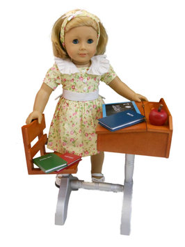 The Queen's Treasures 18-inch Doll Accessory - 1930's Style School Desk