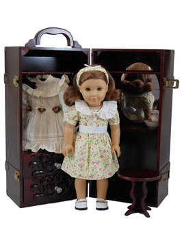 The Queen's Treasures Deluxe Doll Storage Trunk with Vanity for 18