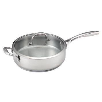 Guy Fieri Stainless Steel 5 Quart Deep Saute Pan
