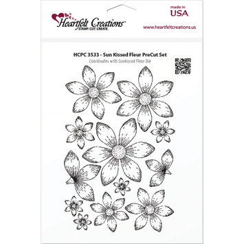 Heartfelt Creations Cling Rubber Stamp Set 5X6.5in-Sun Kissed Fleur