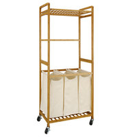Neu Home Laundry Sorter with Canvas Bags