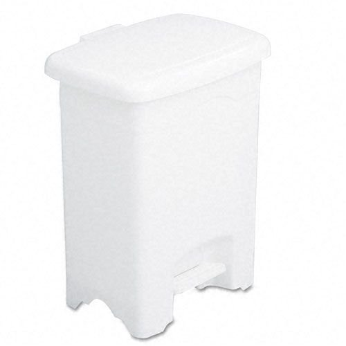 Safco Plastic Step-On Receptacle, 4-Gallon - White
