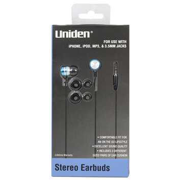 Esi Cases & Accessories Uniden Stereo Earbuds Blue UN717 - ESI CASES AND ACCESSORIES