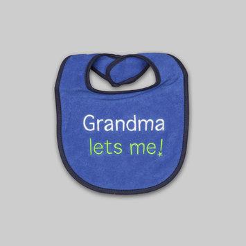 A.d. Sutton & Sons/pacesetter Tender Kisses Infant Boy's Embroidered Bib - Grandma Lets Me