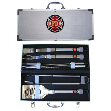 Siskiyou Sports SBBQ20 Firefighter 8 Pieces BBQ Set