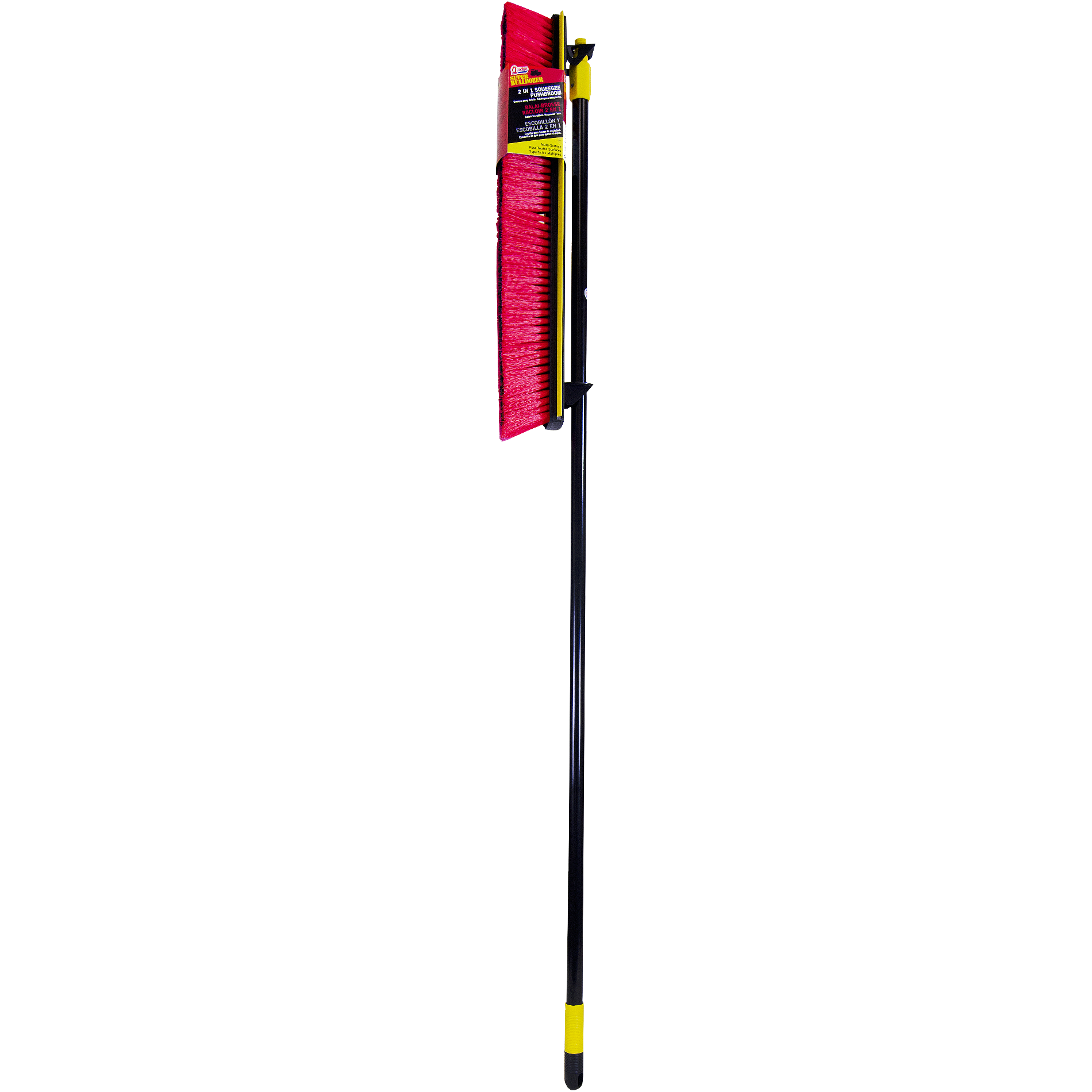 Quickie 2 n 1 24 in. Super Bulldozer Squeegee Pushbroom 00635-1