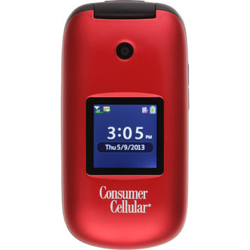 Consumer Cellular Envoy Feature Phone Red