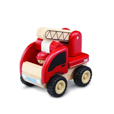 Smart Gear WW4003 Wonderworld Mini Fire Engine Wooden Vehicle