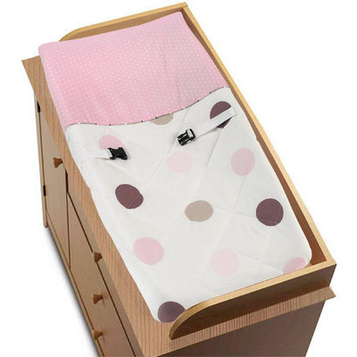 Sweet Jojo Designs Mod Dots Pink Collection Changing Pad Cover