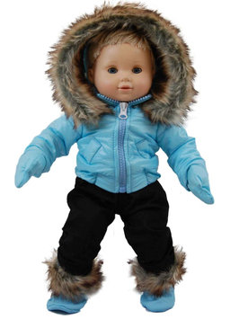 The Queen's Treasures 15-inch Doll Clothes - Snow Suit Outfit - Blue