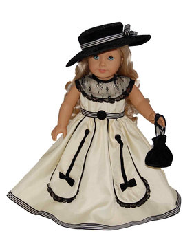 The Queen's Treasures 18-inch Doll Clothes - Colonial Ball Gown