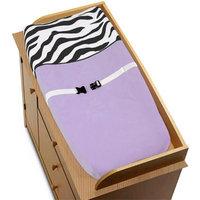 Sweet JoJo Designs Purple Funky Zebra Changing Pad Cover