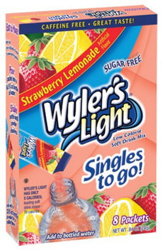 The Jel Sert Company WYLERS LIGHT 8CT POWDERED DRINK SINGLES TO GO - STRAWBERRY LEMONADE