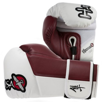 Hayabusa Tokushu 10 oz. Boxing Gloves - White/Burnt Crimson