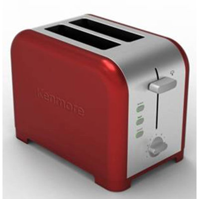 Aca Hong Kong Ltd Kenmore 2 Slice Red Toaster - Kenmore
