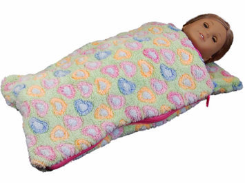 The Queen's Treasures The Queens Treasures AGSLB-G 18 in. Doll Sleeping Bag for American Girl Dolls Green