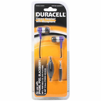 Esi Cases And Accessories Duracell Stereo Headset w/ Mic DU3004 Purple