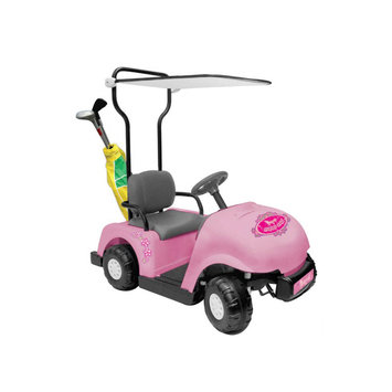 tional Products Ltd. Jr. Pro 6V Golf Cart Battery Powered Riding Toy - Pink
