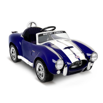 tional Products Ltd. National Products 6V Shelby Cobra Electric Ride-On - Blue