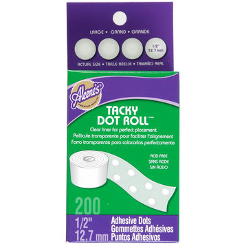 I Love To Create 29142 Aleenes Dry Adhesive Tacky Roll Large Dot .5 200/Pkg