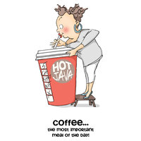 Easy-up Company Art Impressions People Cling Rubber Stamp Cathy Caffeine Set