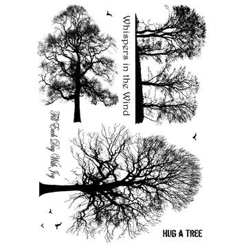 Cam Consumer Products, Inc. Crafty Individuals Unmounted Rubber Stamp Winter Trees