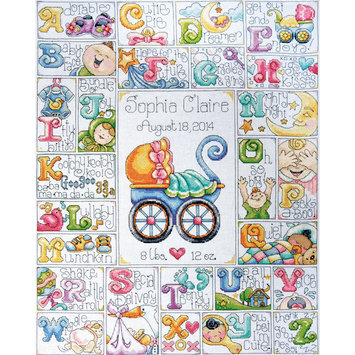 Design Works Crafts, Inc. Tobin Baby ABC Counted Cross Stitch Kit 14 Count