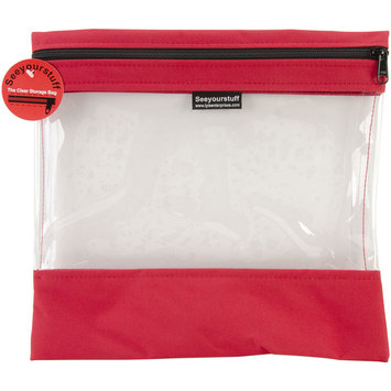 Lyle Seeyourstuff Clear Storage Bags 12 X13 - Red