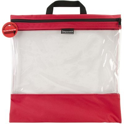 Lyle Seeyourstuff Clear Storage Bags 16 X16 - Red