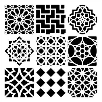 Crafters Workshop Crafter's Workshop Templates 12 X12 - Moroccan Tiles