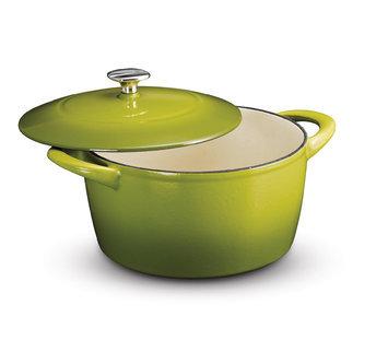 Kenmore 5.5 Quart Non-Stick Lidded Dutch Oven Green