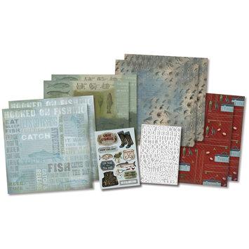Karen Foster Design, Llc. Karen Foster Born To Fish Scrapbook Page Kit, 12