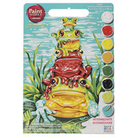 Dimensions 9x12 Learn To Paint Paint By Number Kit - Frog Pile-Up