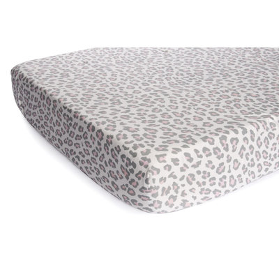 Carter's Infant Girl's Fitted Crib Sheet - Cheetah Print Pink