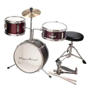 Piecell AIL 621R Junior Drum Kit in Rockstar Red