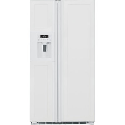 GE Profile 23.34 cu. ft. Side by Side Refrigerator in White, Counter Depth PZS23KPEWV